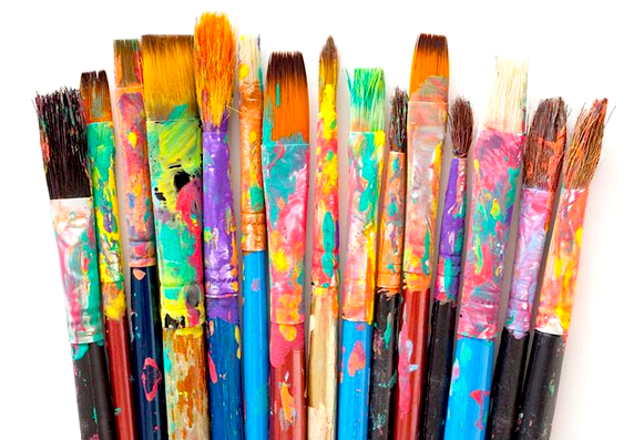 Paintbrush art therapy