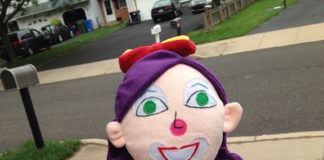 clown selfie