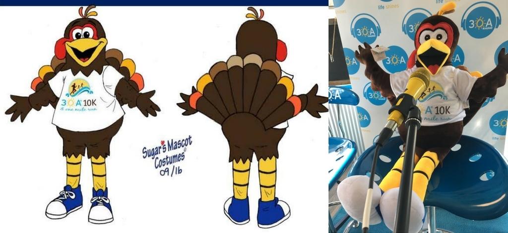 Thanksgiving custom made corporate mascots