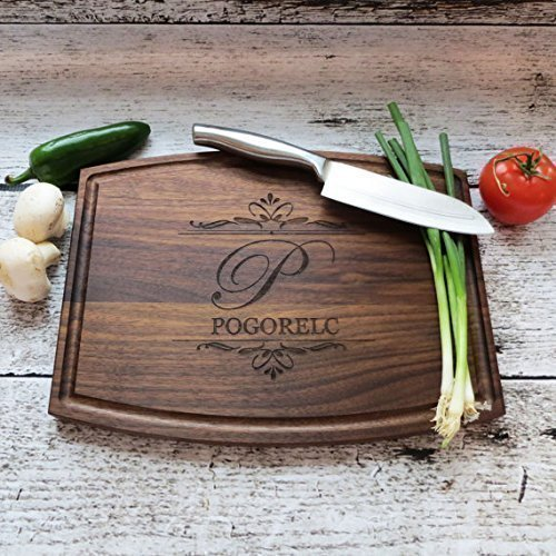 custom christmas gifts for her cutting board