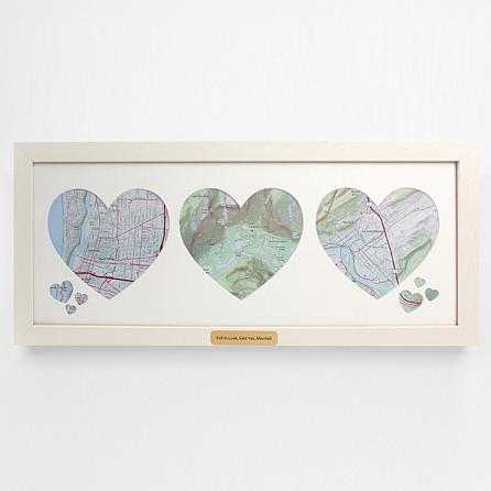 custom christmas gifts for her family memory wall map art