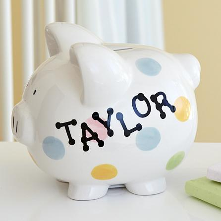 personalized christmas gifts for kids piggy bank