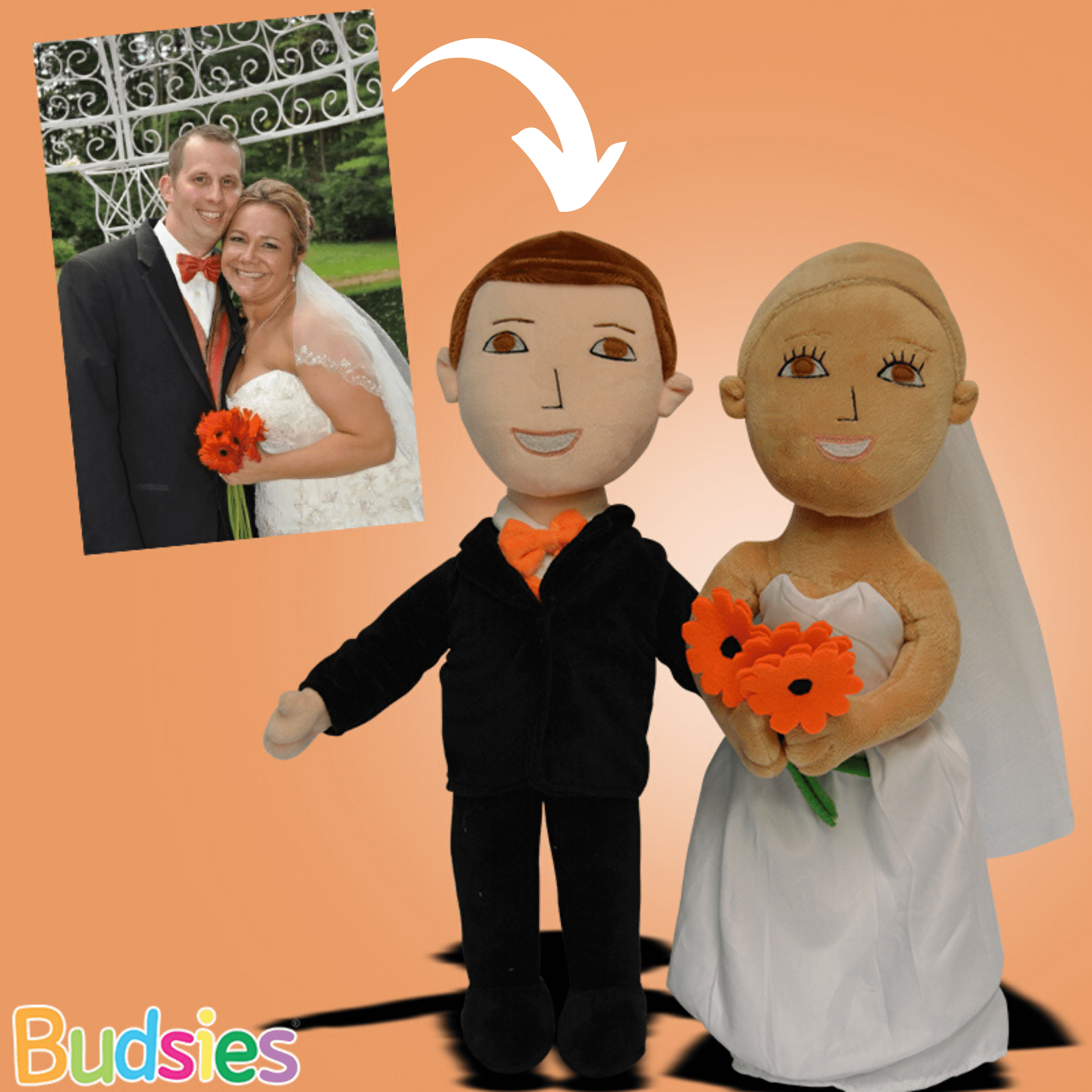 bride groom doll set