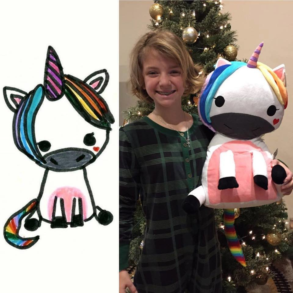 custom unicorn stuffed animal