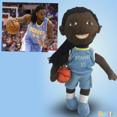 famous basketball player plush doll