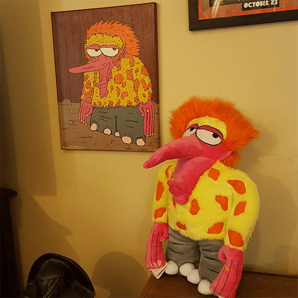 painting turned into stuffed animal