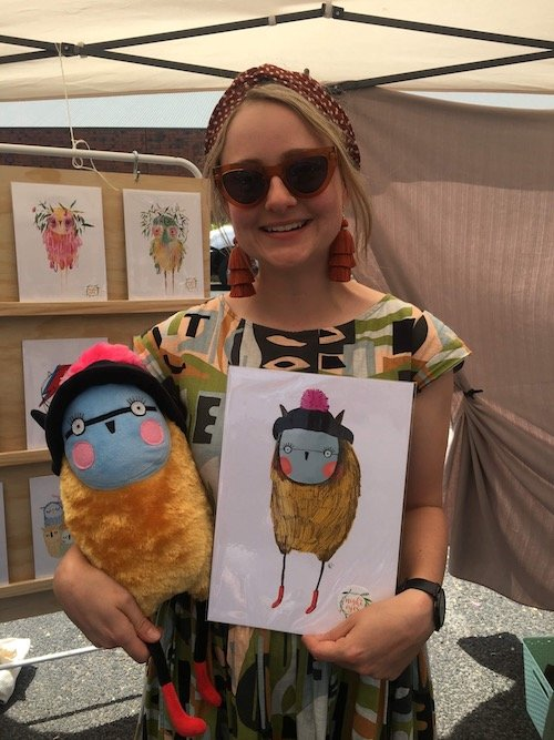 turn art into stuffed animal