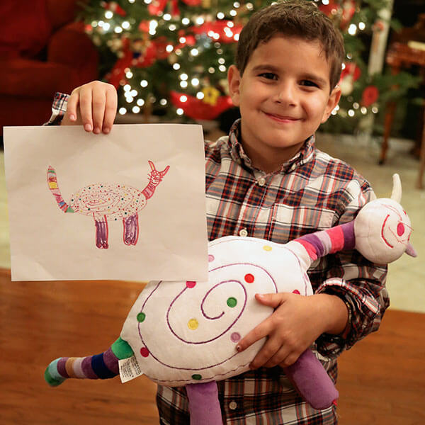 Boy Toys Drawing : Drawings into custom stuffed animals budsies