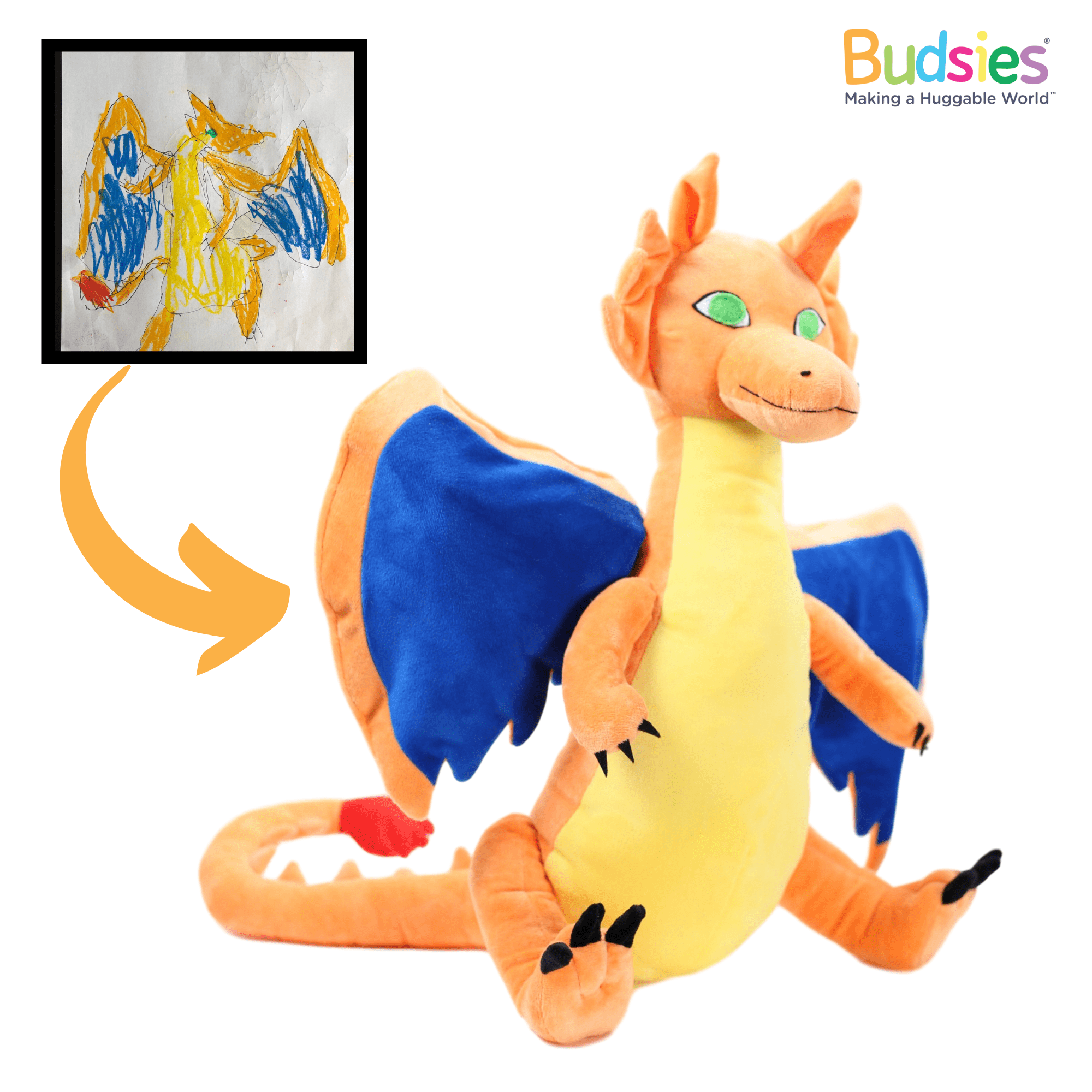 custom stuffed animal of charizard pokemon