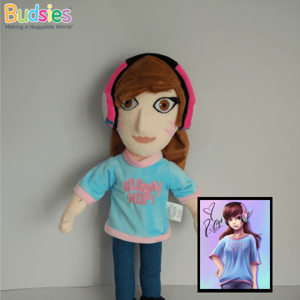 custom dva overwatch plush stuffed animal