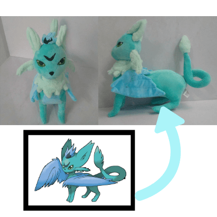 custom pokemon plushie of fakemon skyceon