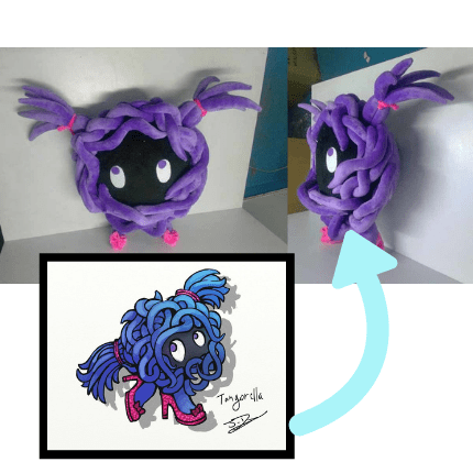 custom pokemon plush of a fakemon tangorella