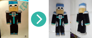 Sample Custom Minecraft Plushie Stuffed Animal From Budsies