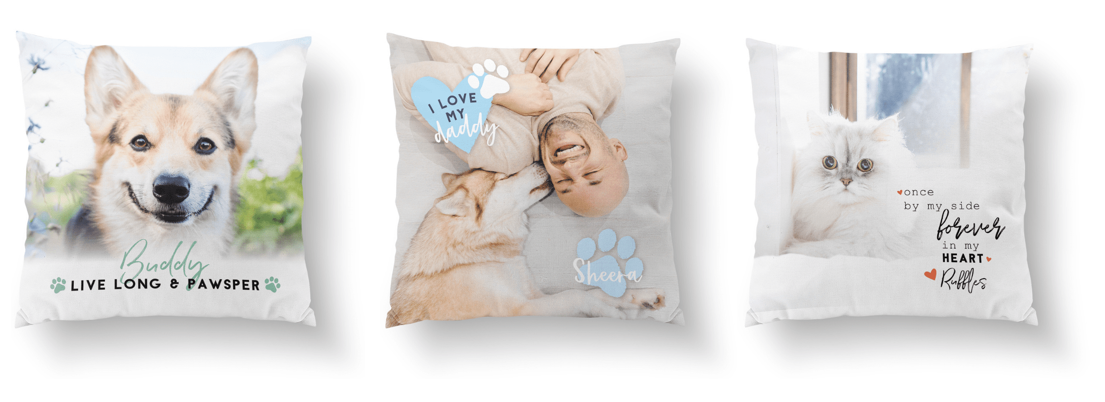 photo pillow gifts with your pets photos