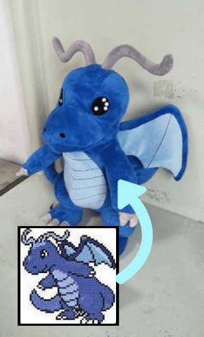 Custom Pokemon Plush of a Shiny Dragonite
