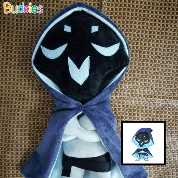 custom overwatch plushie of Reaper's winter wonderland skin