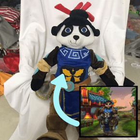 custom world of warcraft pandaren plushies