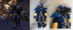 Sample Custom World of Warcraft Plushie Stuffed Animal From Budsies
