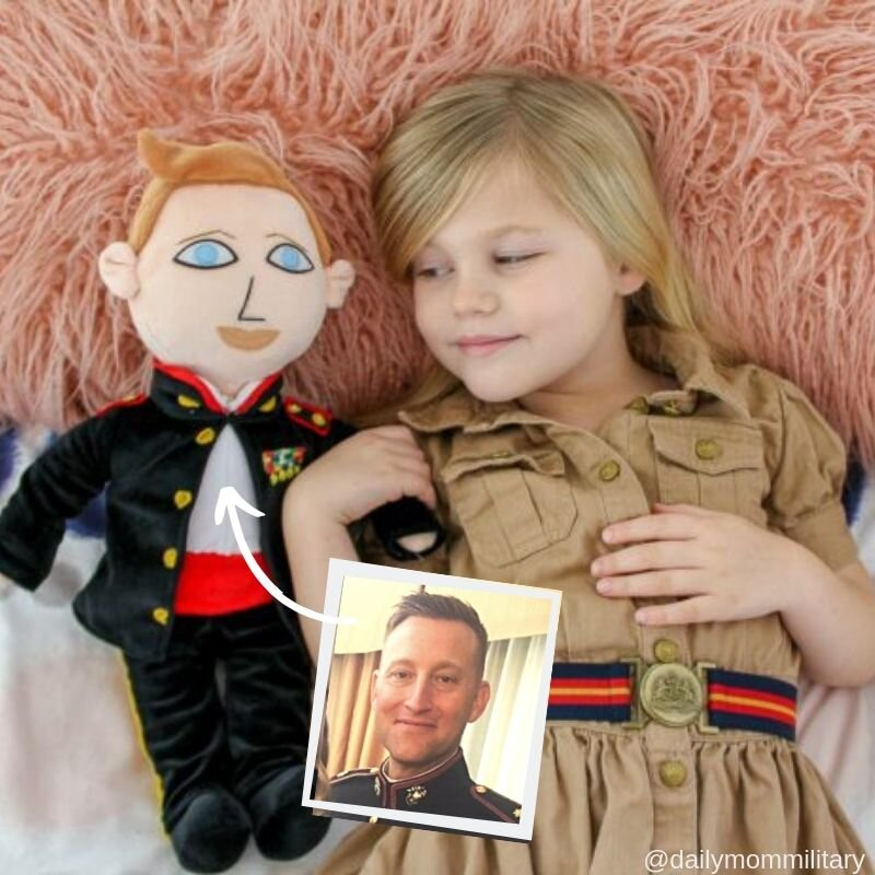 Girl Laying Down with Daddy Doll