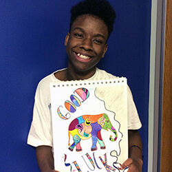 Demetrius with his elephant
