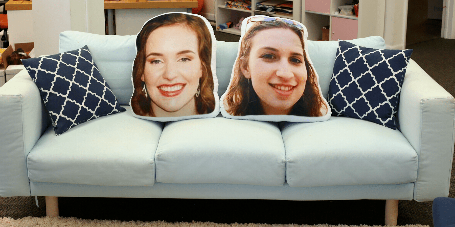 face pillow custom decor