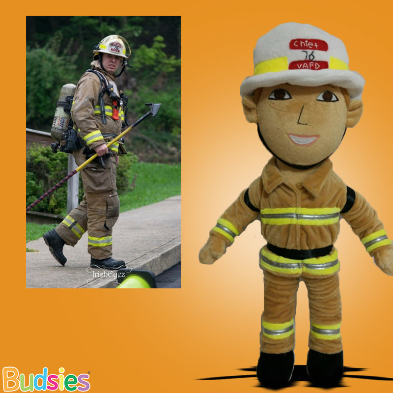 Custom Firefighter Plush