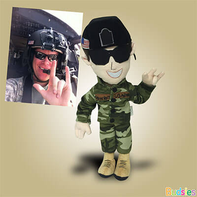 military custom plush doll