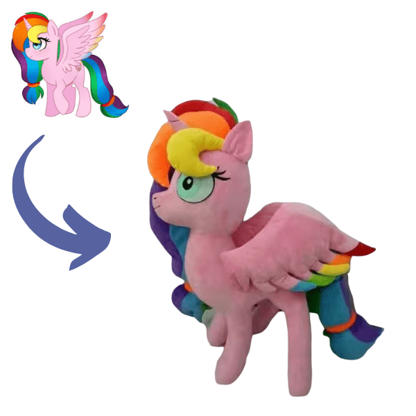 My little pony inspired stuffed animal