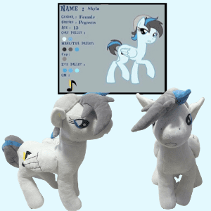 My little pony inspired plush commission