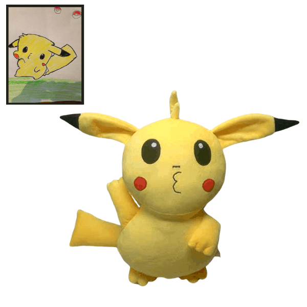 Pokemon Stuffed Animal Custom, Pikachu Inspired