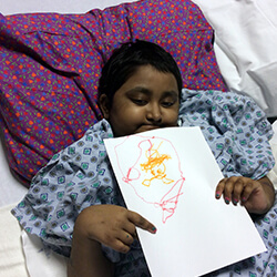 Pratiksha with drawing