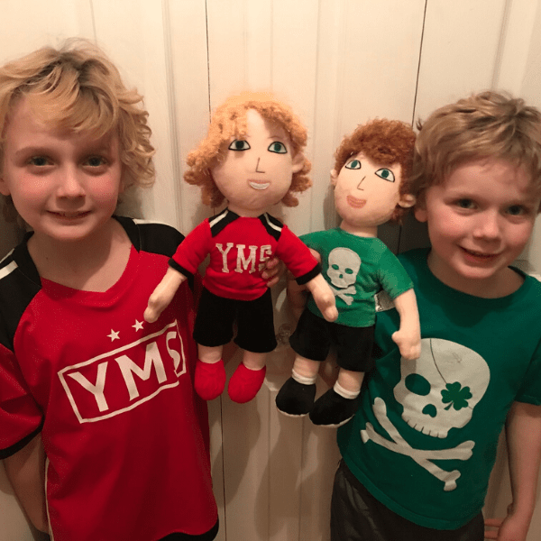 custom plush dolls of kids from photo