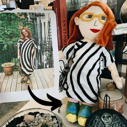 custom photo plush doll