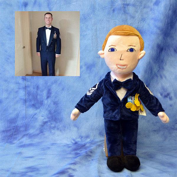 air force plush doll