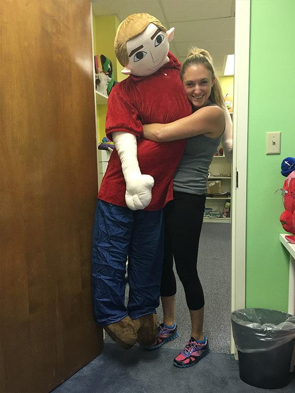 large stuffed animal of yourself