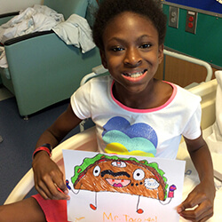 sydney with her drawing