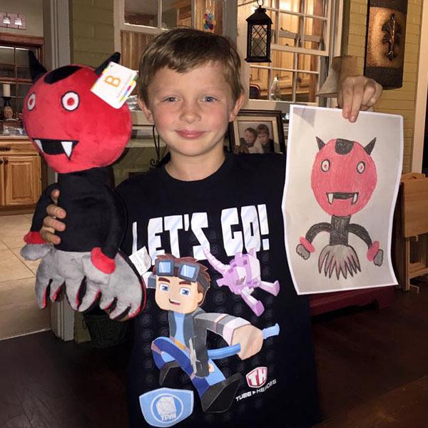 Stuffed animal of drawings