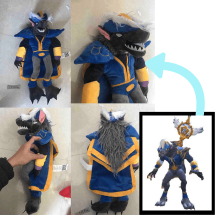 custom world of warcraft worgen plushie