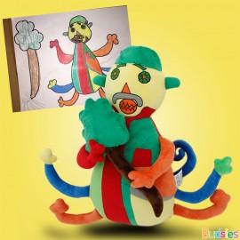 colorful monster custom stuffed animal