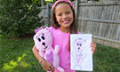 Personalized gift for daughter stuffed animal from art