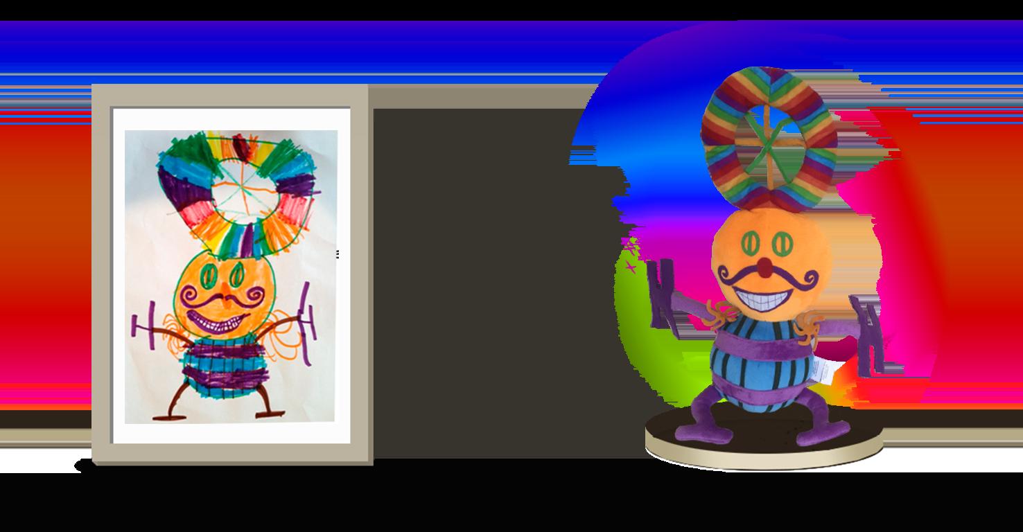 Custom stuffed animal gift rainbow man