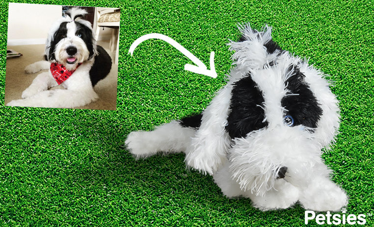 Custom stuffed animal from dog photo